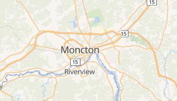 Moncton - szczegółowa mapa Google