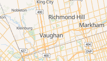 Vaughan - szczegółowa mapa Google