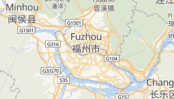 Fuzhou - szczegółowa mapa Google
