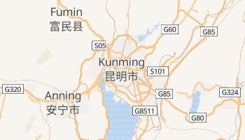 Kunming - szczegółowa mapa Google