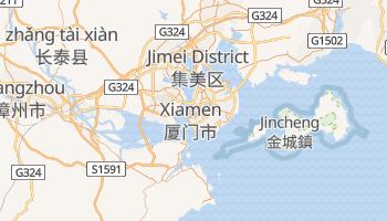 Xiamen - szczegółowa mapa Google