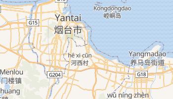 Yantai - szczegółowa mapa Google