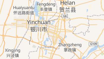 Yinchuan - szczegółowa mapa Google