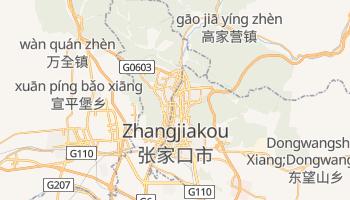 Zhangjiakou - szczegółowa mapa Google