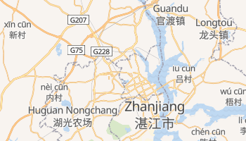 Zhanjiang - szczegółowa mapa Google