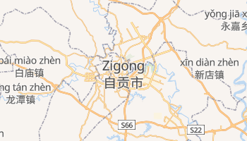 Zigong - szczegółowa mapa Google