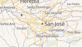 San José - szczegółowa mapa Google