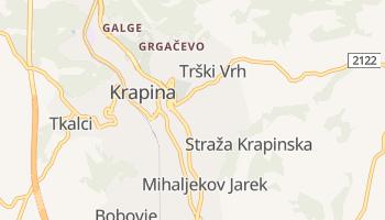 Krapina - szczegółowa mapa Google