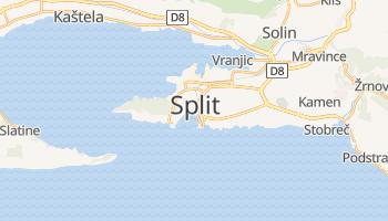 Split - szczegółowa mapa Google