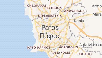 Pafos - szczegółowa mapa Google
