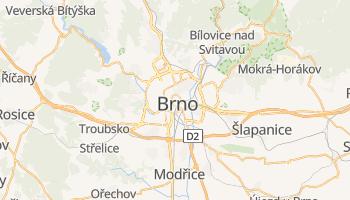 Brno - szczegółowa mapa Google