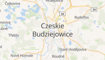 Czeskie Budziejowice - szczegółowa mapa Google