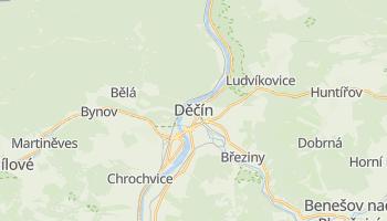 Děčín - szczegółowa mapa Google