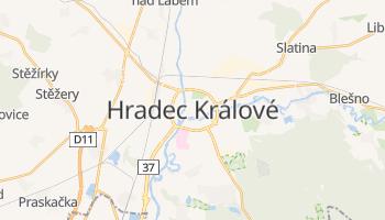 Hradec Králové - szczegółowa mapa Google