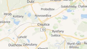 Cieplice - szczegółowa mapa Google