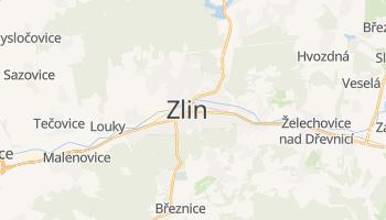 Zlín - szczegółowa mapa Google