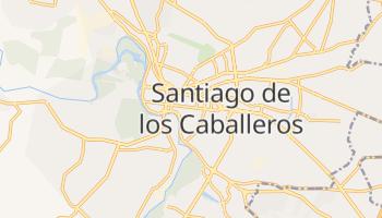 Santiago - szczegółowa mapa Google