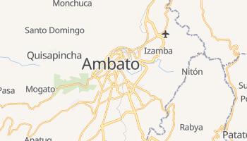 Ambato - szczegółowa mapa Google