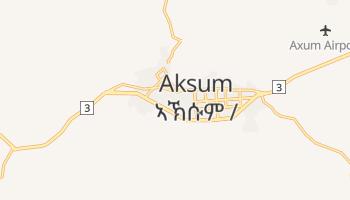 Aksum - szczegółowa mapa Google