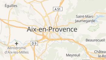 Aix-en-Provence - szczegółowa mapa Google
