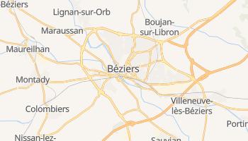 Béziers - szczegółowa mapa Google