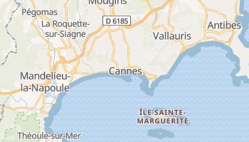 Cannes - szczegółowa mapa Google