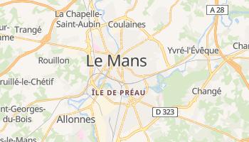 Le Mans - szczegółowa mapa Google
