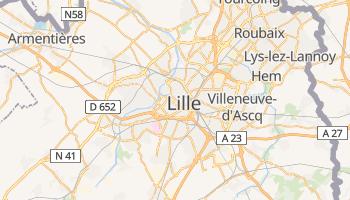 Lille - szczegółowa mapa Google