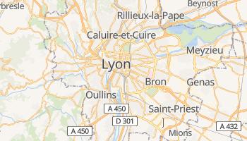 Lyon - szczegółowa mapa Google