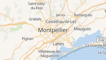 Montpellier - szczegółowa mapa Google