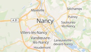 Nancy - szczegółowa mapa Google