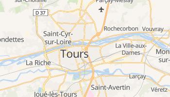 Tours - szczegółowa mapa Google