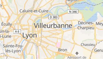 Villeurbanne - szczegółowa mapa Google