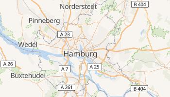 Hamburg - szczegółowa mapa Google