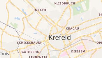 Krefeld - szczegółowa mapa Google