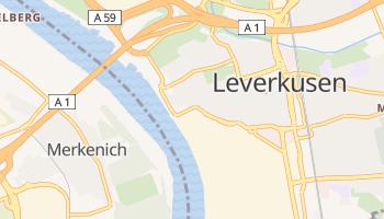 Leverkusen - szczegółowa mapa Google