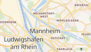 Mannheim - szczegółowa mapa Google