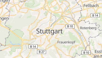 Stuttgart - szczegółowa mapa Google