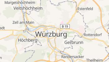 Würzburg - szczegółowa mapa Google