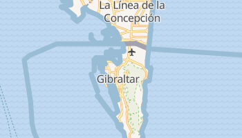 Gibraltar - szczegółowa mapa Google