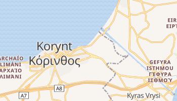 Korynt - szczegółowa mapa Google