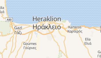 Heraklion - szczegółowa mapa Google