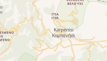 Karpenisi - szczegółowa mapa Google