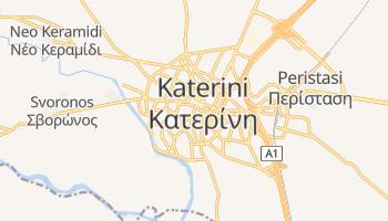 Katerini - szczegółowa mapa Google