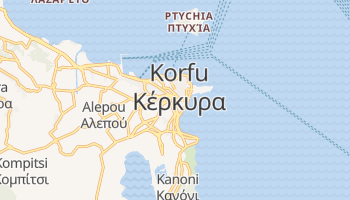 Korfu - szczegółowa mapa Google