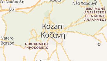 Kozani - szczegółowa mapa Google