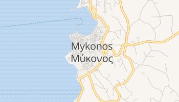 Mykonos - szczegółowa mapa Google
