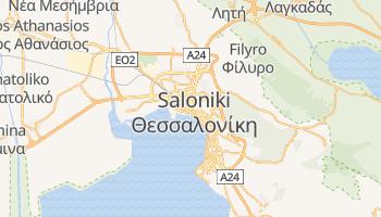 Saloniki - szczegółowa mapa Google