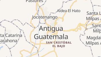 Antigua - szczegółowa mapa Google