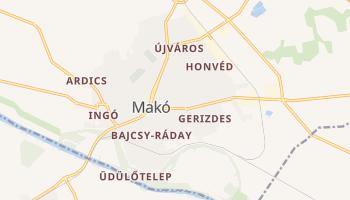 Mako - szczegółowa mapa Google